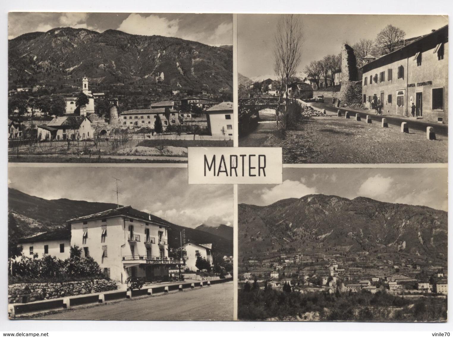 MARTER  TRENTO   Cartolina Viaggiata 1978 - Trento