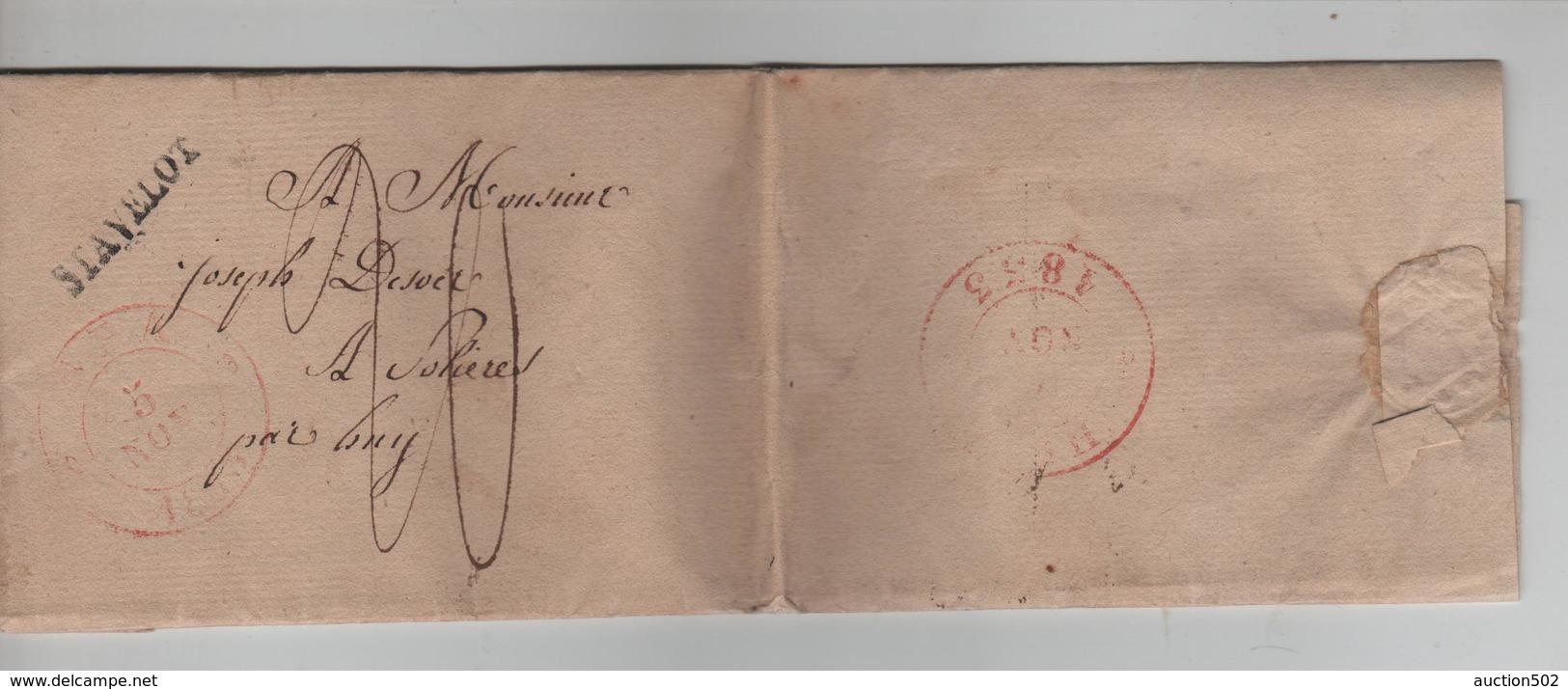 PR6306/ LAC De Stavelot 1833 Taxée 20 Pour Solières Par Huy C.d'arrivée Huy - 1830-1849 (Belgique Indépendante)