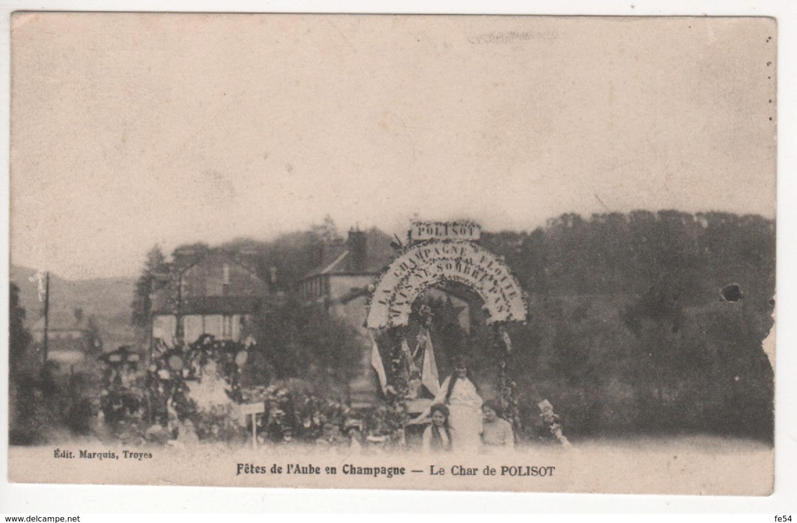 ° 10 ° BAR SUR SEINE ° Char De Polisot ° Fête De L'Aube En Champagne ° - Bar-sur-Seine
