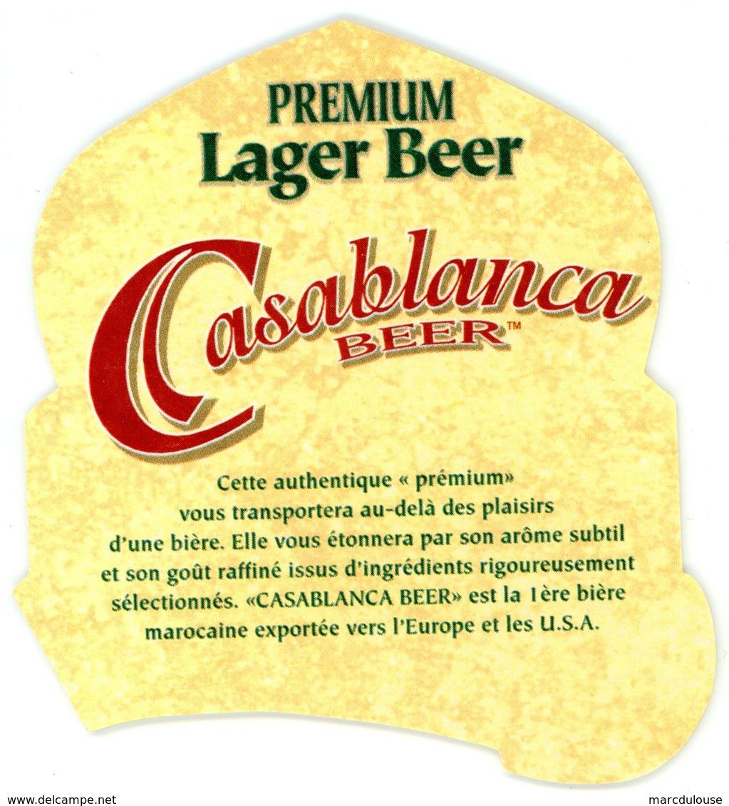 Morocco. Maroc. Casablanca Beer. Brassée Et Mise En Bouteilles Par Brasseries Du Maroc. Casablanca. Premium Lager Beer. - Sous-bocks
