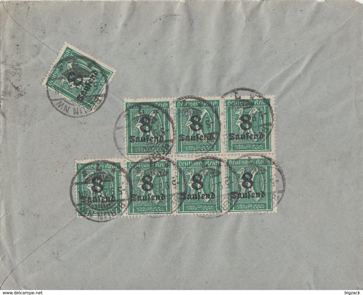 DR Brief Mif Minr.254,17x 278 Berlin 5.9.23 - Allemagne