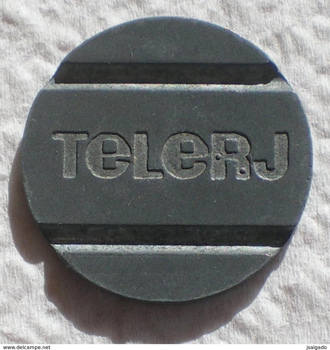 Brasil Telephone Token  TELERJ Telecomunicações Do Rio De Janeiro  Dot To The Front And Behind R - Noodgeld