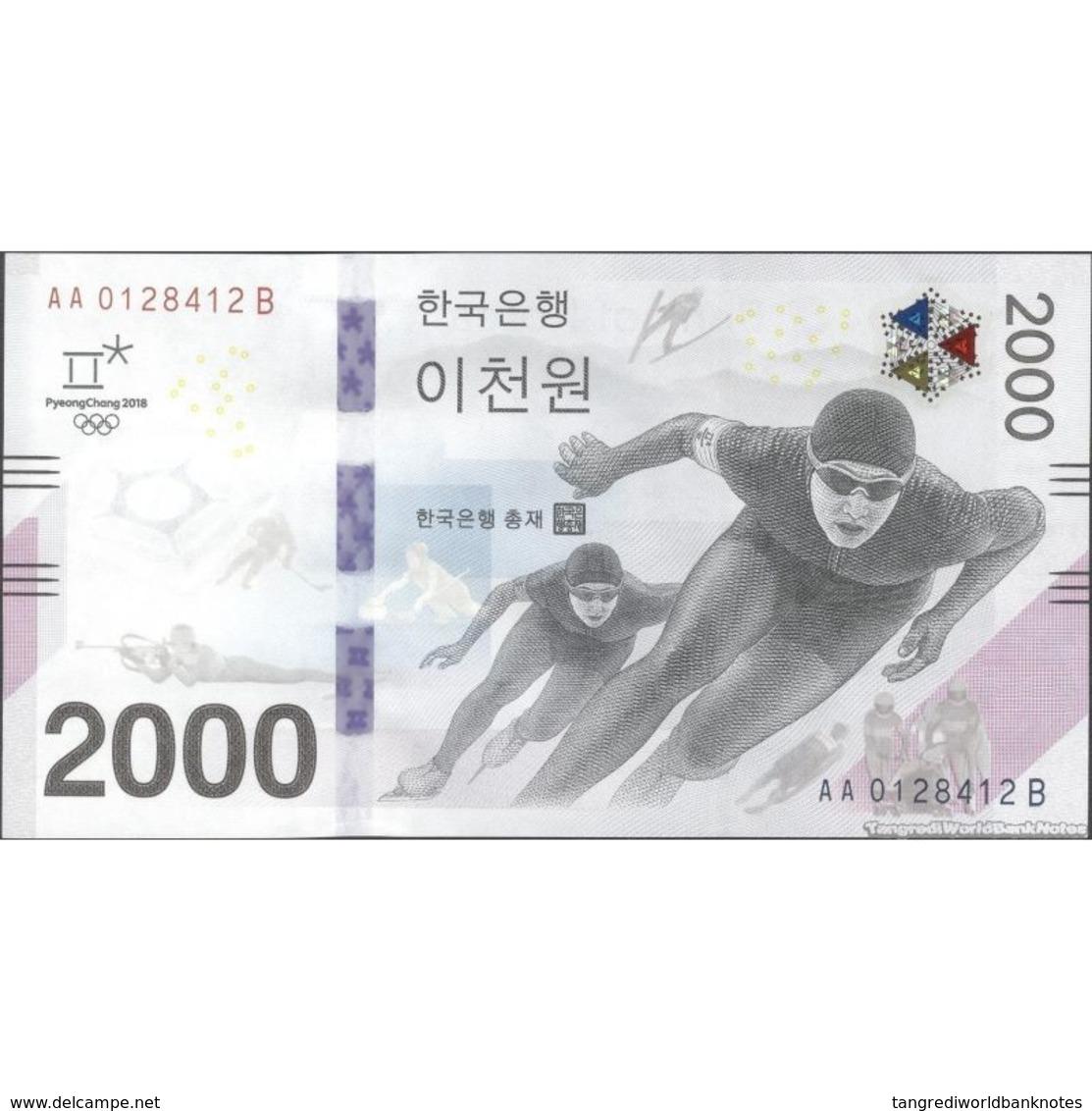 TWN - SOUTH KOREA NEW - 2000 2.000 Won 2018 Winter Olympic Games Pyeong Chang 2018 - AA XXXXXXX B UNC - Korea, South