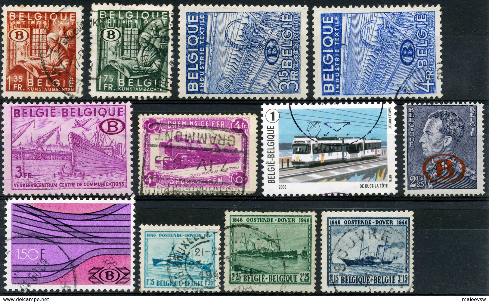 Belgium Has Many Interesting Postage Stamps - Timbres