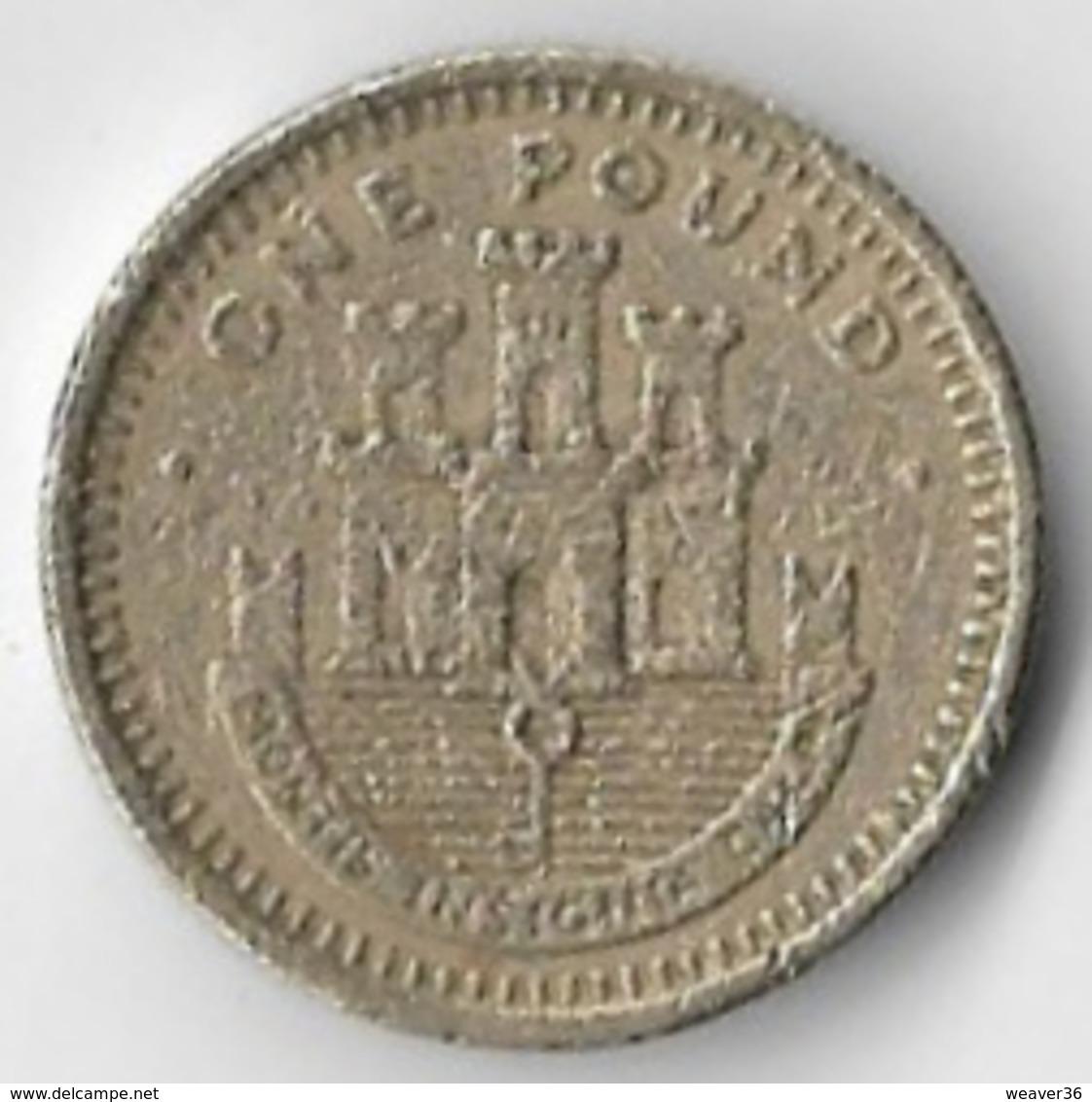 Gibraltar 1991 £1 [C284/1D] - Gibraltar