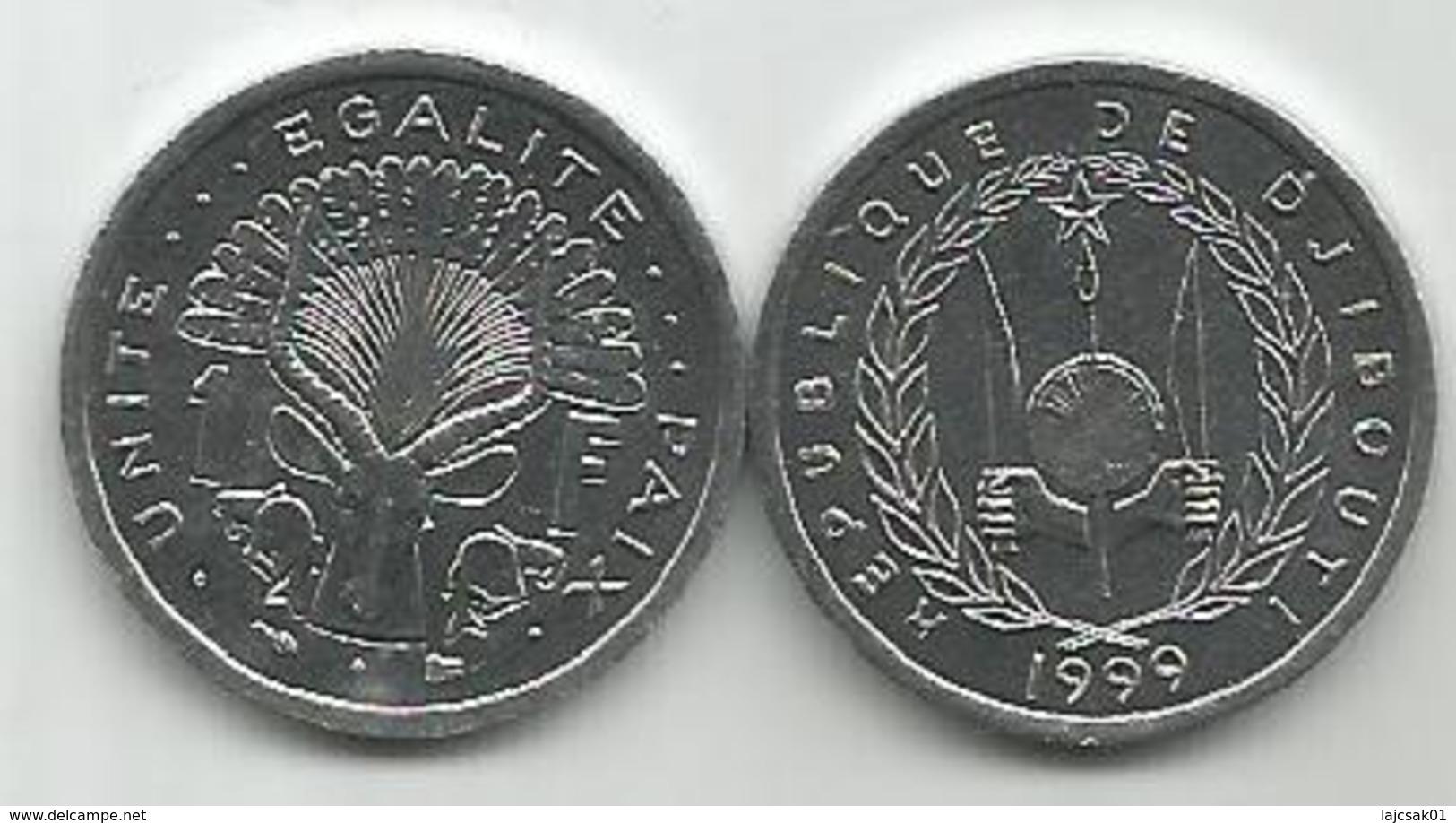 Djibouti 1 Franc 1999. High Grade - Djibouti