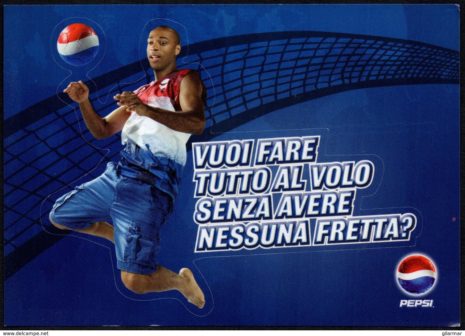 ITALIA 2009 - WORLD LEAGUE - PEPSI FOOTVOLLEY TOUR 2009 - VUOI FARE TUTTO A VOLO - PROMOCARD - Volleyball