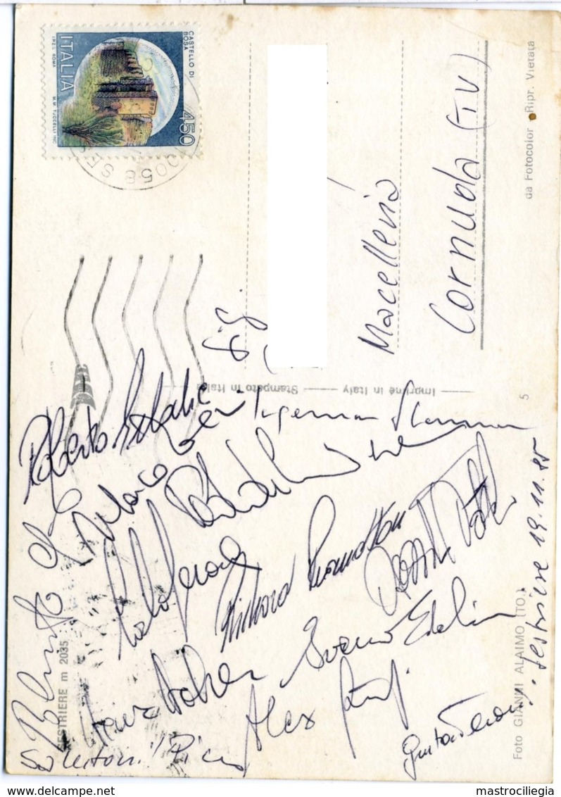 SESTRIERE  SCI ALPINO  Autografi Edalini Stenmark Pramotton Gerosa Thöni Giorgi Holzer And Others Ski Champions - Autographes