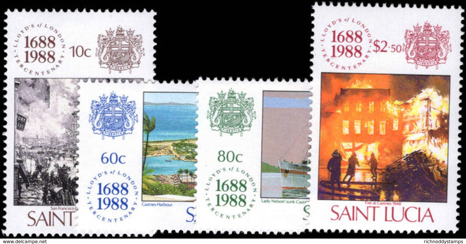 St Lucia 1988 Lloyds Of London Unmounted Mint. - St.Lucia (1979-...)