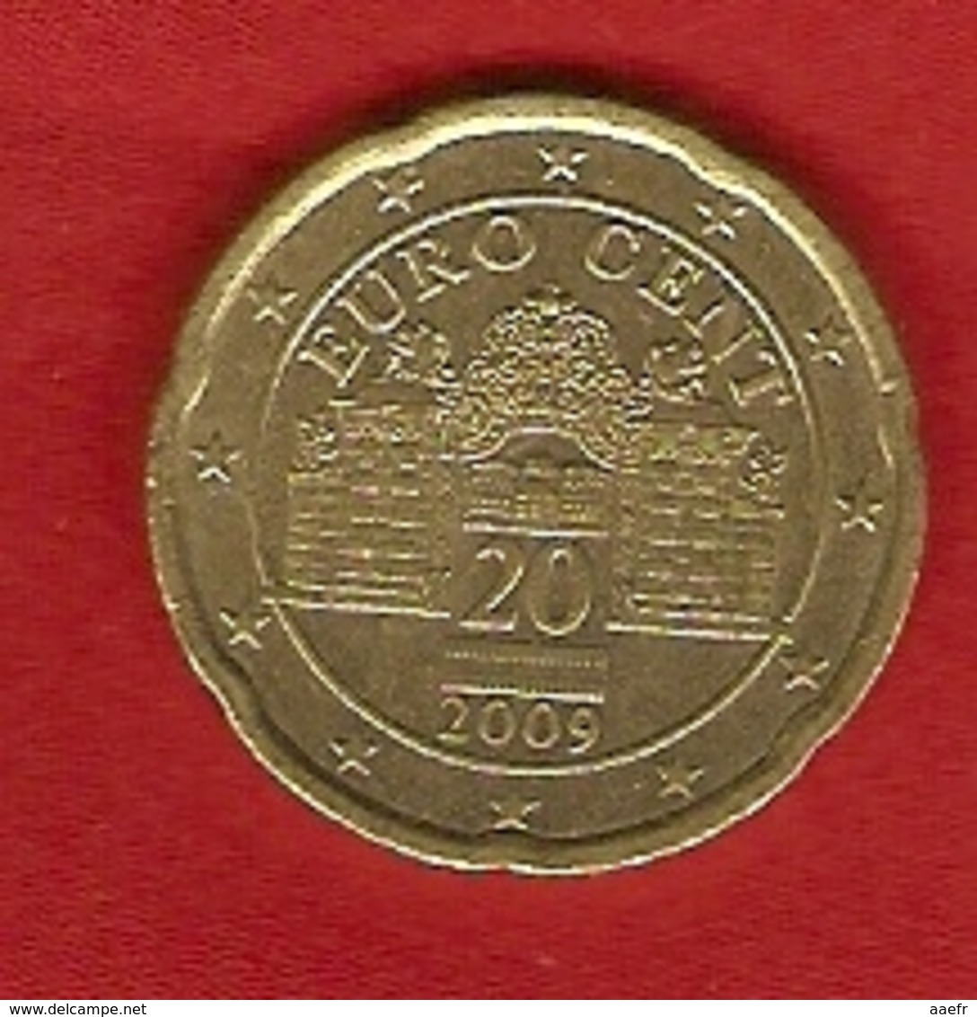 Autriche 2009 - 20 Cents - Grilles Du Belvedère - Autriche