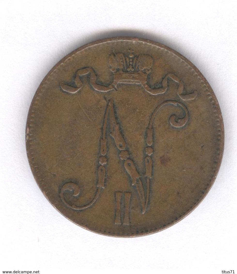 5 Pennia Finlande / Finland 1905 - TTB - Finlande