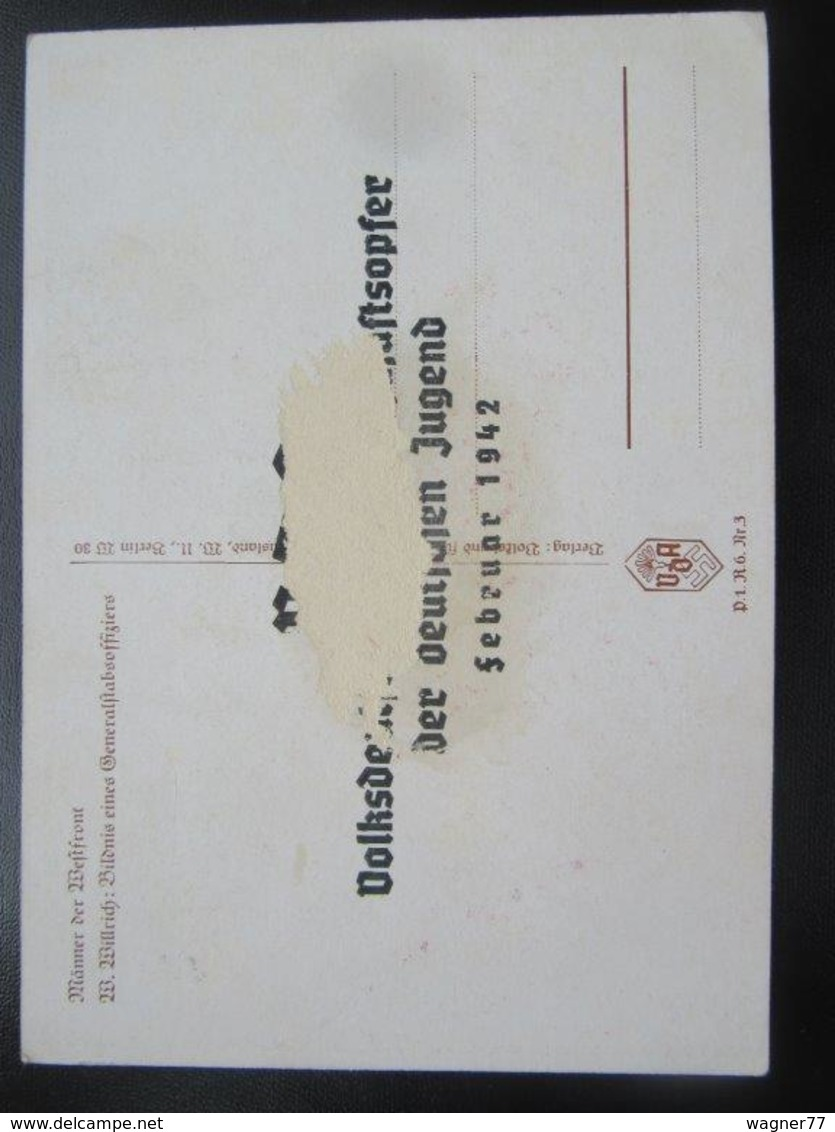 Postkarte Postcard Willrich - Propaganda - Wehrmacht - Beschädigt / Damaged - Erhaltung/condition II-III - Weltkrieg 1939-45