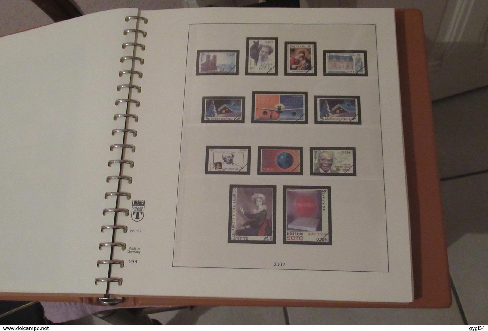 Album  LINDNER  Avec Son étui  2000 à 2004 - Albums & Reliures