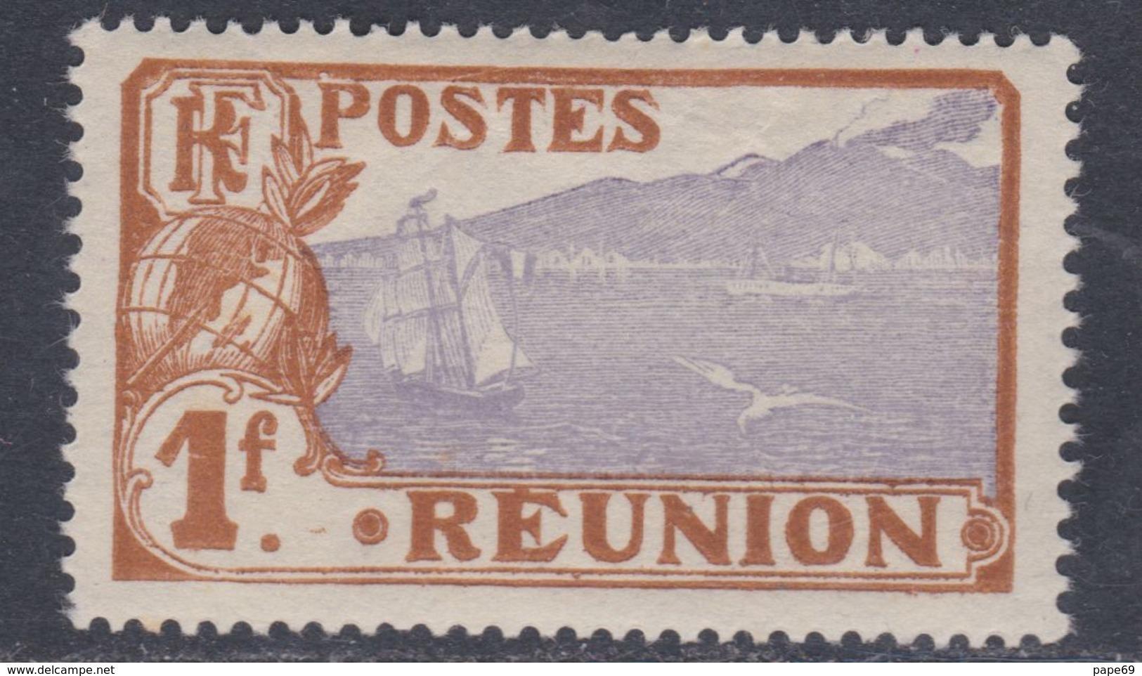 Réunion N° 115 XX  Partie De Série : 1 F. Bistre  Et Violet Sans Charnière, TB - Neufs