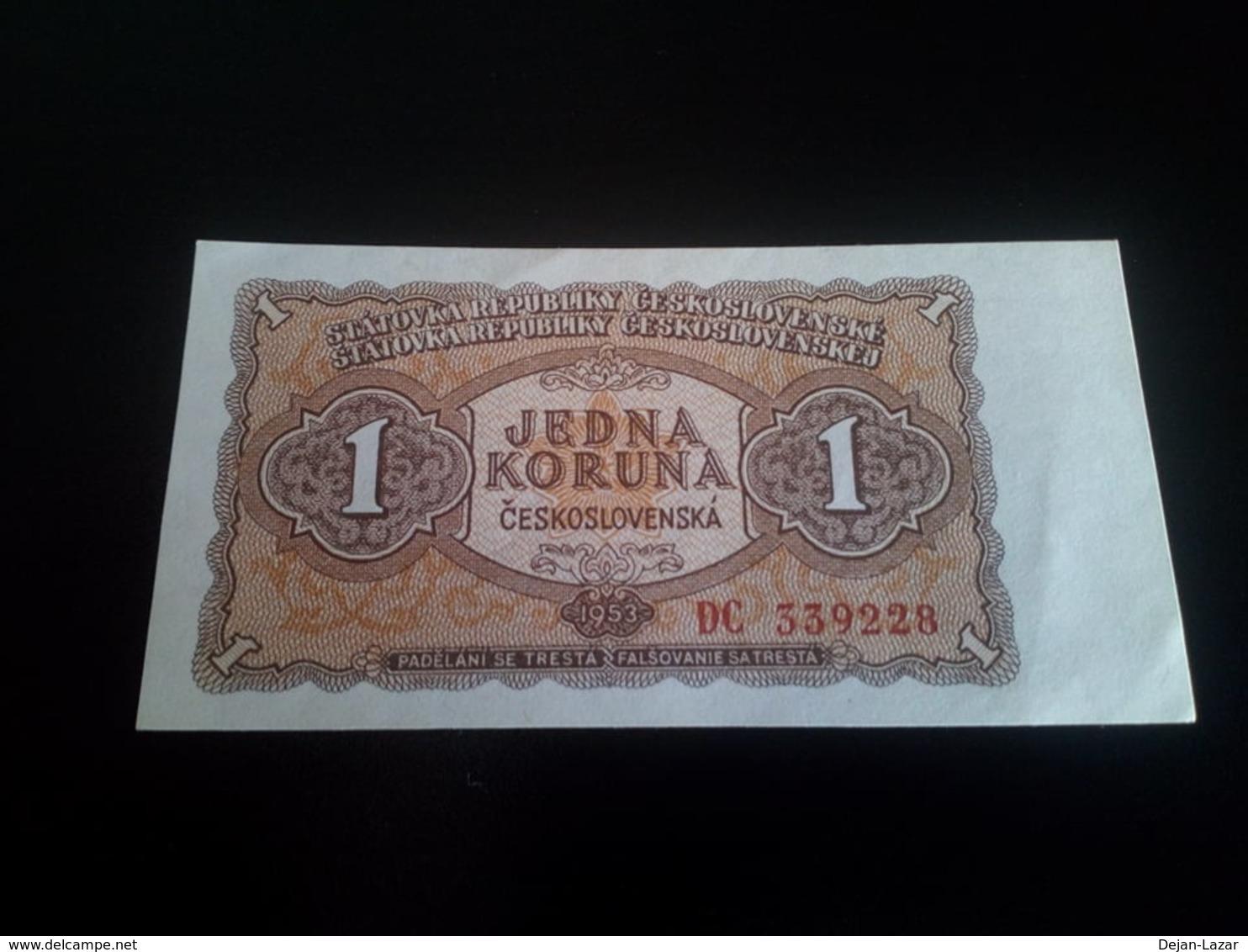 Czechoslovakia 1 Koruna 1953 UNC - Tchécoslovaquie