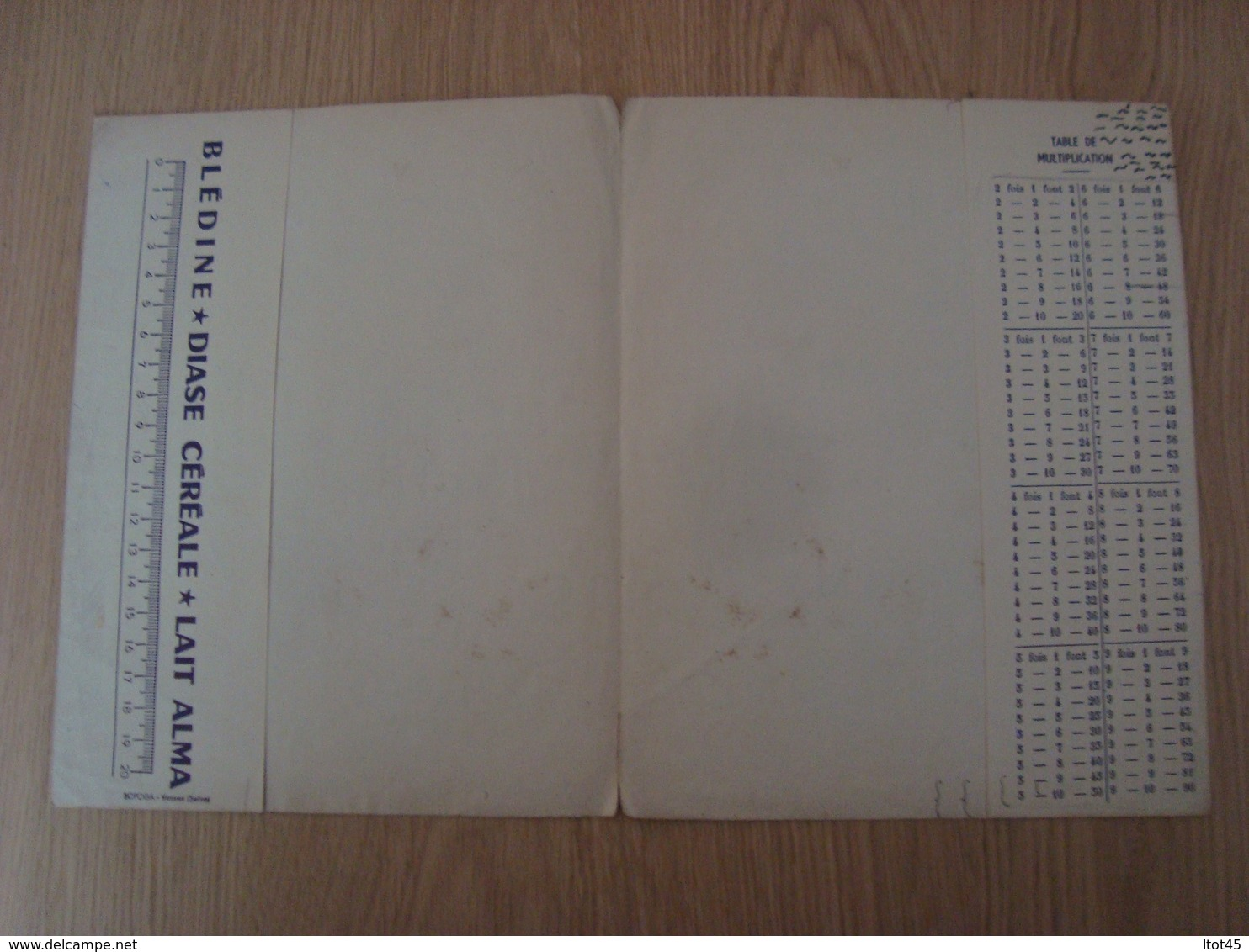PROTEGE-CAHIER BLEDINE VILLEFRANCHE - Protège-cahiers
