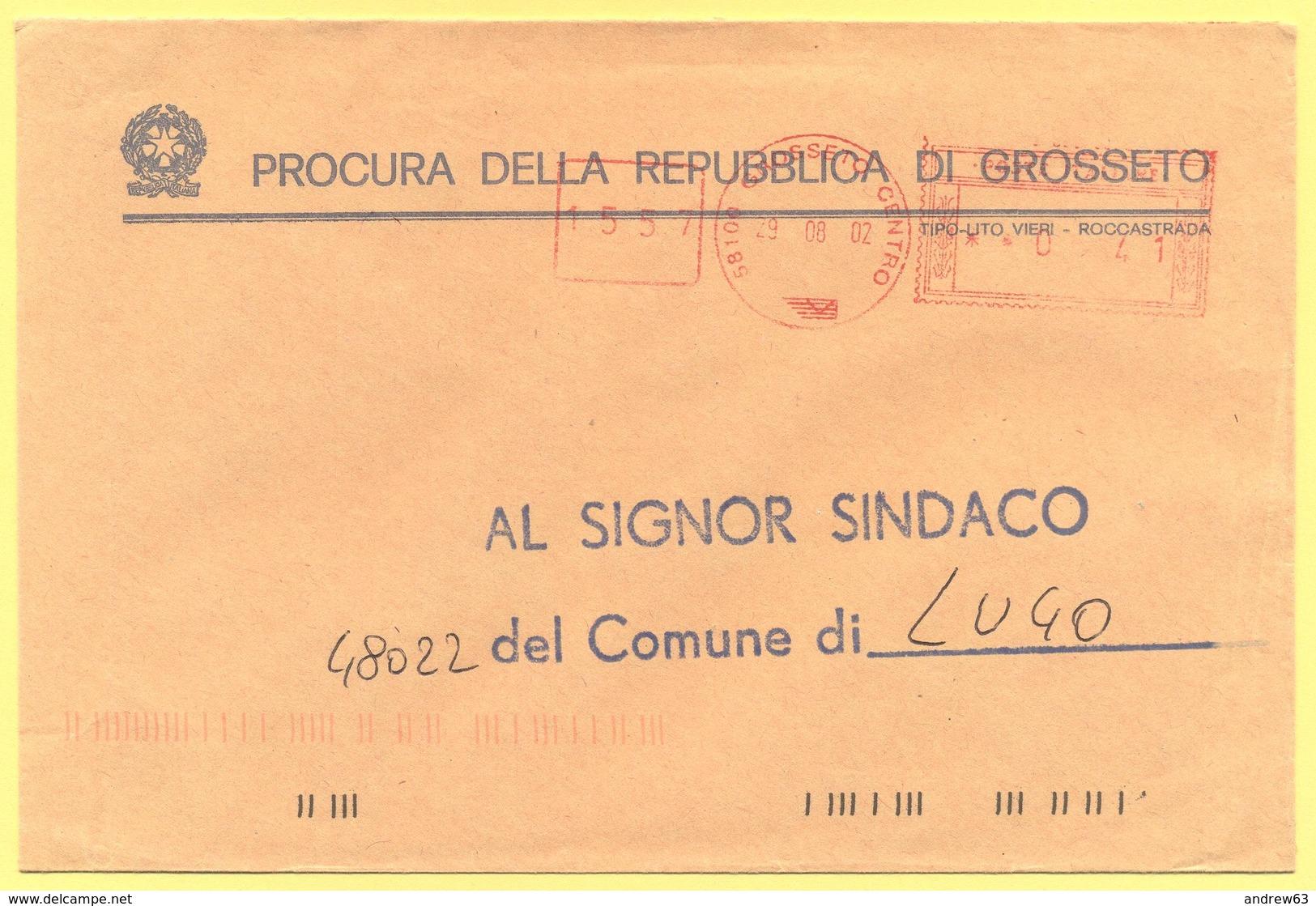 ITALIA - ITALY - ITALIE - 2002 - 00,41€ EMA, Red Cancel - Procura Della Repubblica Di Grosseto - Viaggiata Da Grosseto P - Affrancature Meccaniche Rosse (EMA)