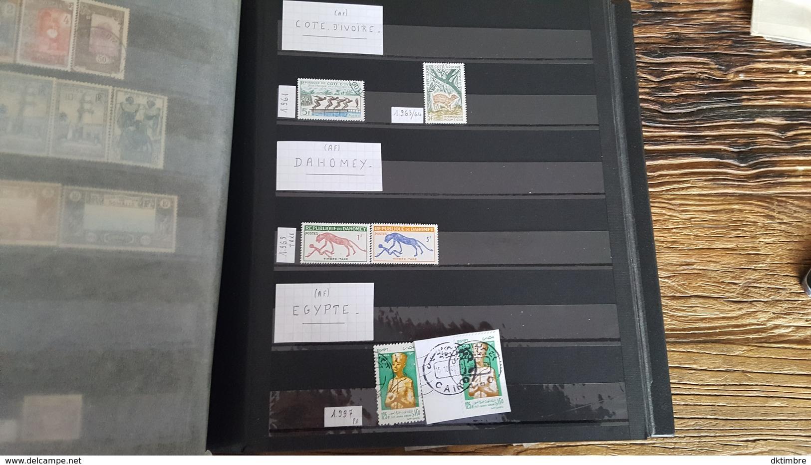 LOT 440187 ALBUM TIMBRE DE COLONIE FRANCAISE ET AUTRES PORT A 15 EUROS - Timbres
