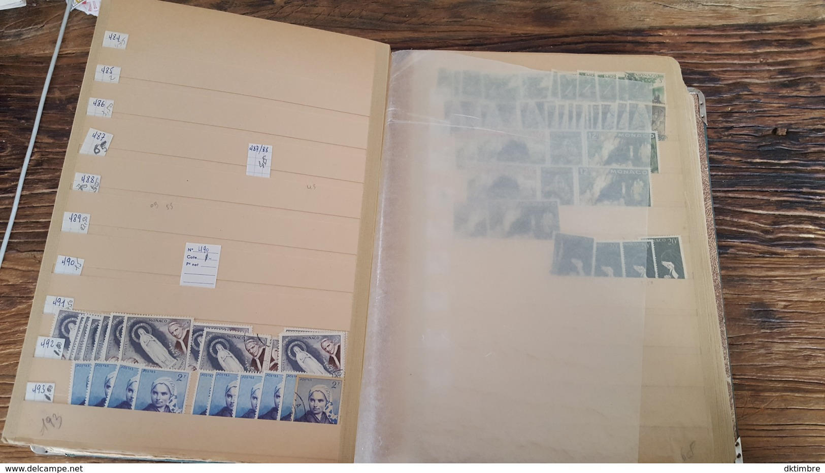 LOT 440188 ALBUM TIMBRE DE STOCK MONACO GROSSE COTE AFFAIRE A SAISIR PORT A 15 EUROS - Timbres