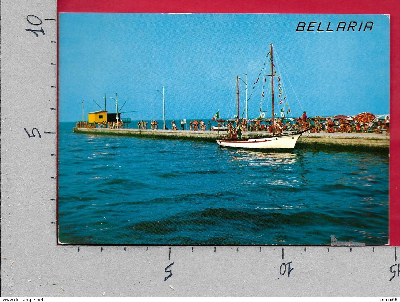 CARTOLINA VG ITALIA - BELLARIA IGEA MARINA (RN) - Panorama Del Molo - 10 X 15 - ANN. 1971 ANNIVERSARIO CECA - Rimini
