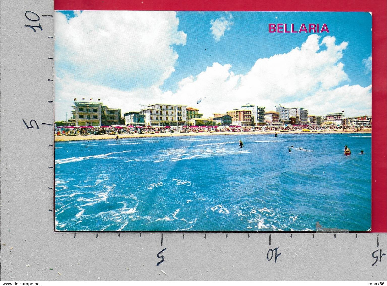 CARTOLINA VG ITALIA - BELLARIA (RN) - Alberghi E Spiaggia Visti Dal Mare - 10 X 15 - ANN. 1971 GIOCHI GIOVENTU - Rimini