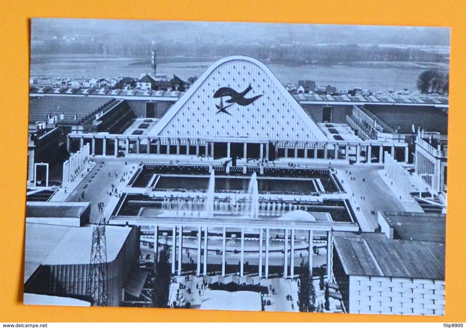 PK/CP : Wereldtentoonstelling Expo 1958 - Belgiëplaats En Voorgevel Van De Grote Paleizen (1288) - Weltausstellungen