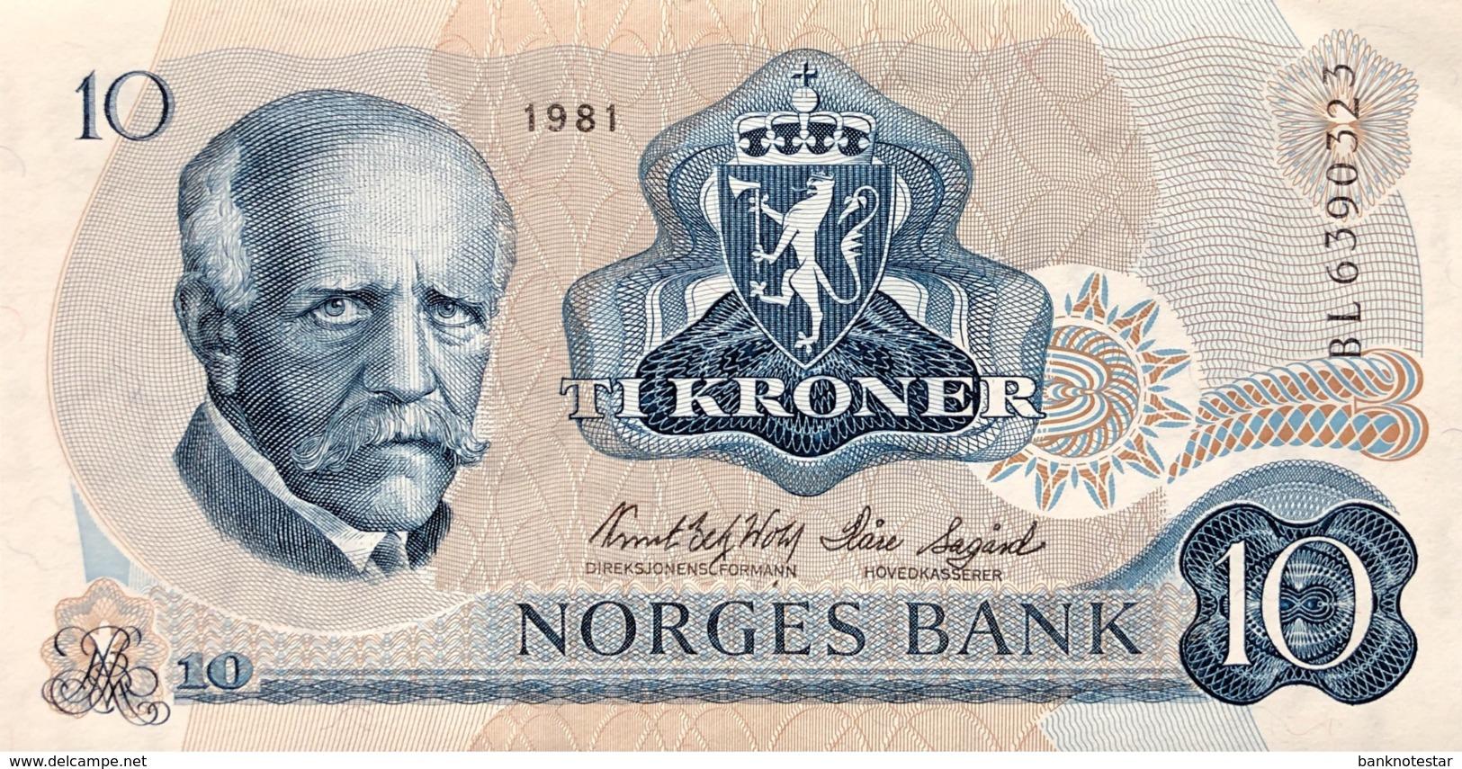 Norway 10 Kroner, P-36c (1981) - UNC - Norvegia