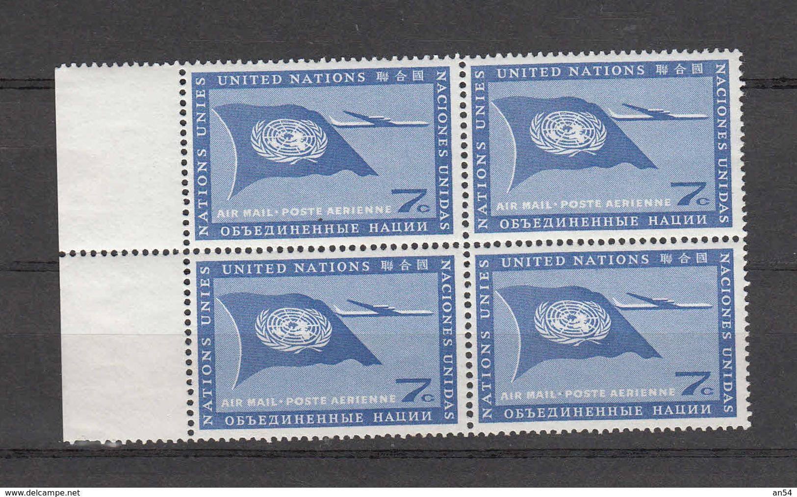 NATIONS-UNIES   NEW YORK   1960   N° 7 BLOC DE 4     NEUF**    CATALOGUE YVERT&TELLIER - New York -  VN Hauptquartier