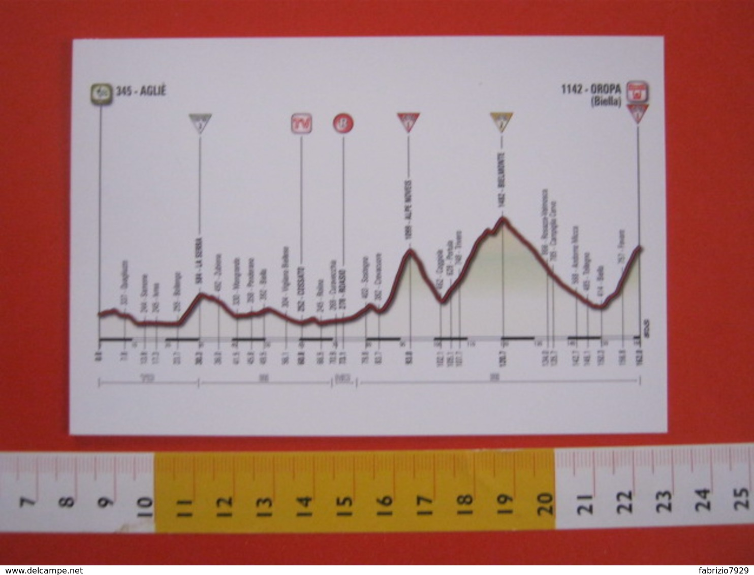 A.07 ITALIA ANNULLO - 2014 BIELLA INCONTRA CICLISTI GIRO DI ITALIA AGLIE IVREA VIGLIANO COSSATO ROASIO TRIVERO BIELMONTE - Ciclismo