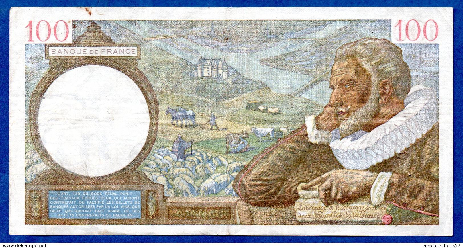 Sully -  100 Francs 8/8/1940 -  état  TB+ - 1871-1952 Circulated During XXth