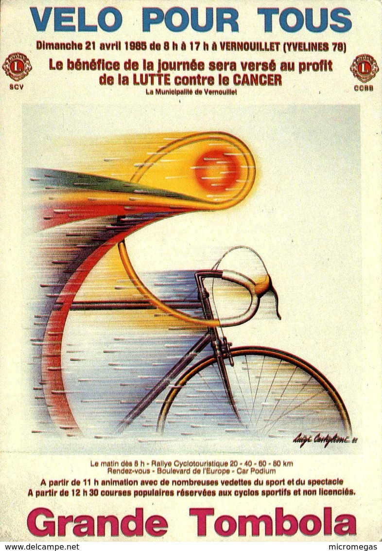 Luigi Castiglioni - VERNOUILLET - Vélo Pour Tous - Grande Tombola 1985 - Cyclisme