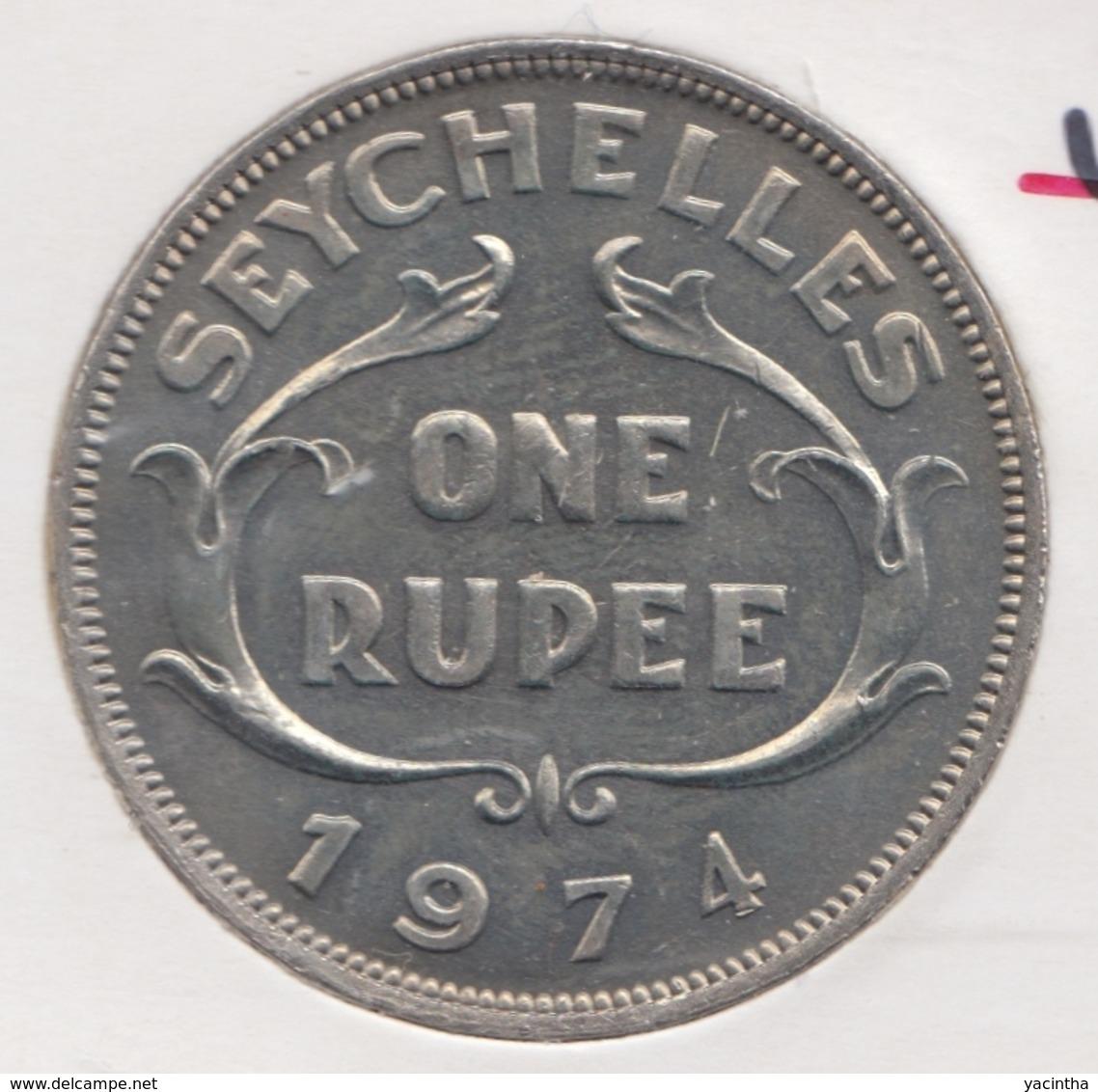 @Y@    Seychellen  1 Rupee  1974     Unc    (1442) - Seychelles