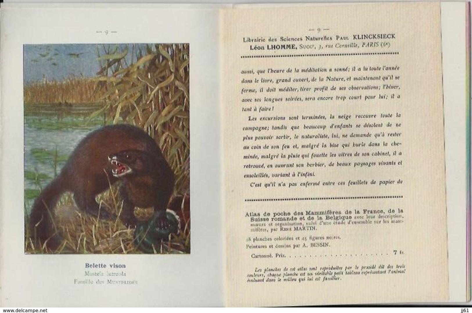 PARIS LIBRAIRIE DES SCIENCES NATURELLES PAUL KLINCKSIECK LEON LHOMME PETIT LIVRE 16 PAGES DEDICACE GEORGES DESPLANTES - France