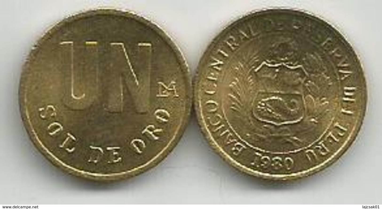 Peru 1 Un Sol De Oro  1980. High Grade - Pérou