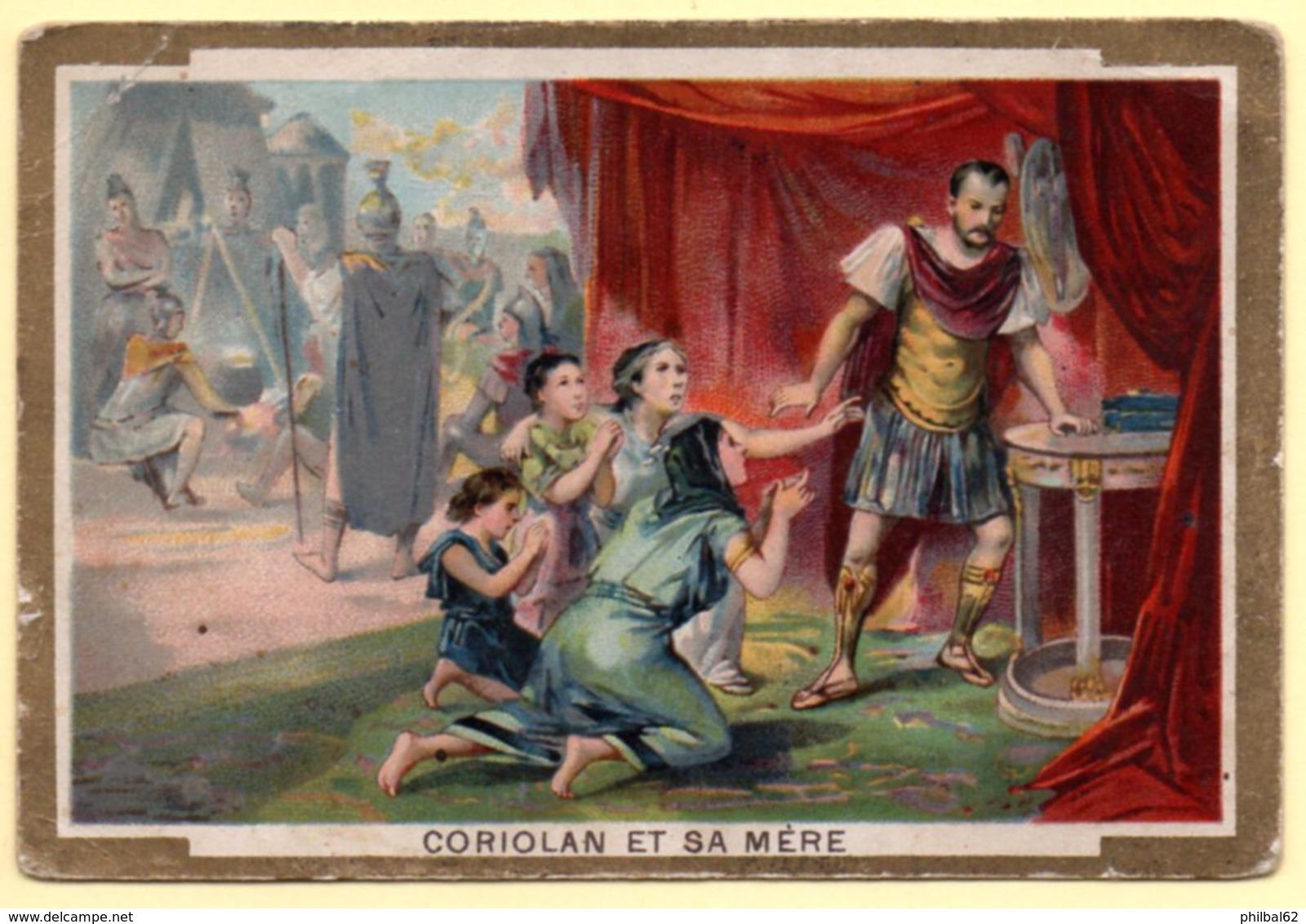 Chromo Phoscao Bébé. Coriolan Et Sa Mère. - Trade Cards