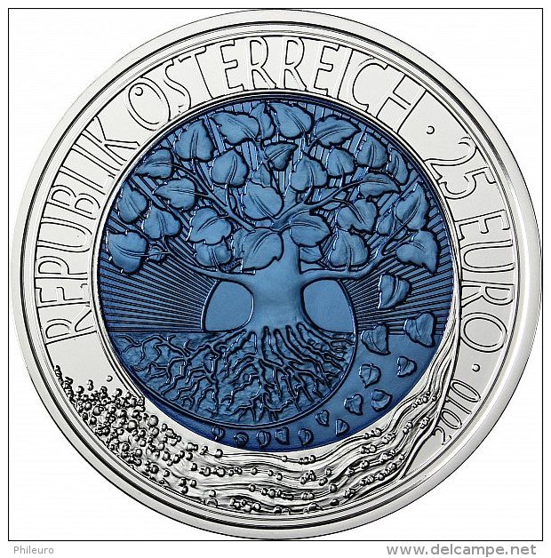 Autriche 2010 : 25€ En Argent Et Niobium - Disponible En France - Autriche