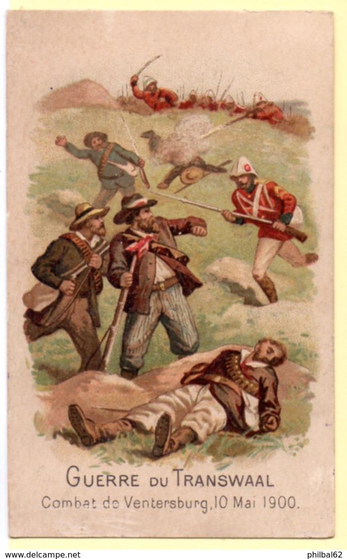 Chromo Café Bériot à Lille. Guerre Du Tranvall, Combat De Ventersburg, 10 Mai 1900. - Tea & Coffee Manufacturers