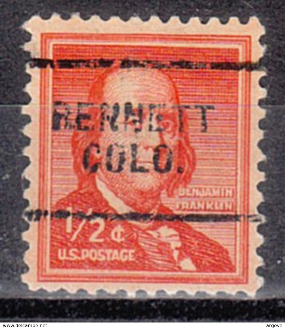 USA Precancel Vorausentwertung Preo, Locals Colorado, Bennett 703 - Vereinigte Staaten