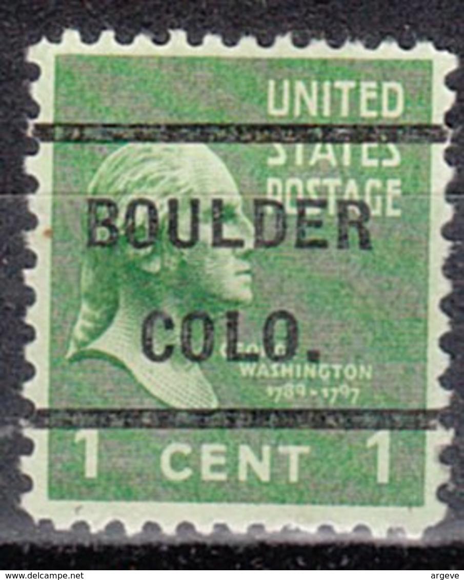 USA Precancel Vorausentwertung Preo, Locals Colorado, Boulder 232 - Vereinigte Staaten