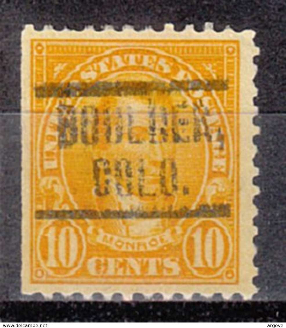 USA Precancel Vorausentwertung Preo, Locals Colorado, Boulder 562-549 - Vereinigte Staaten