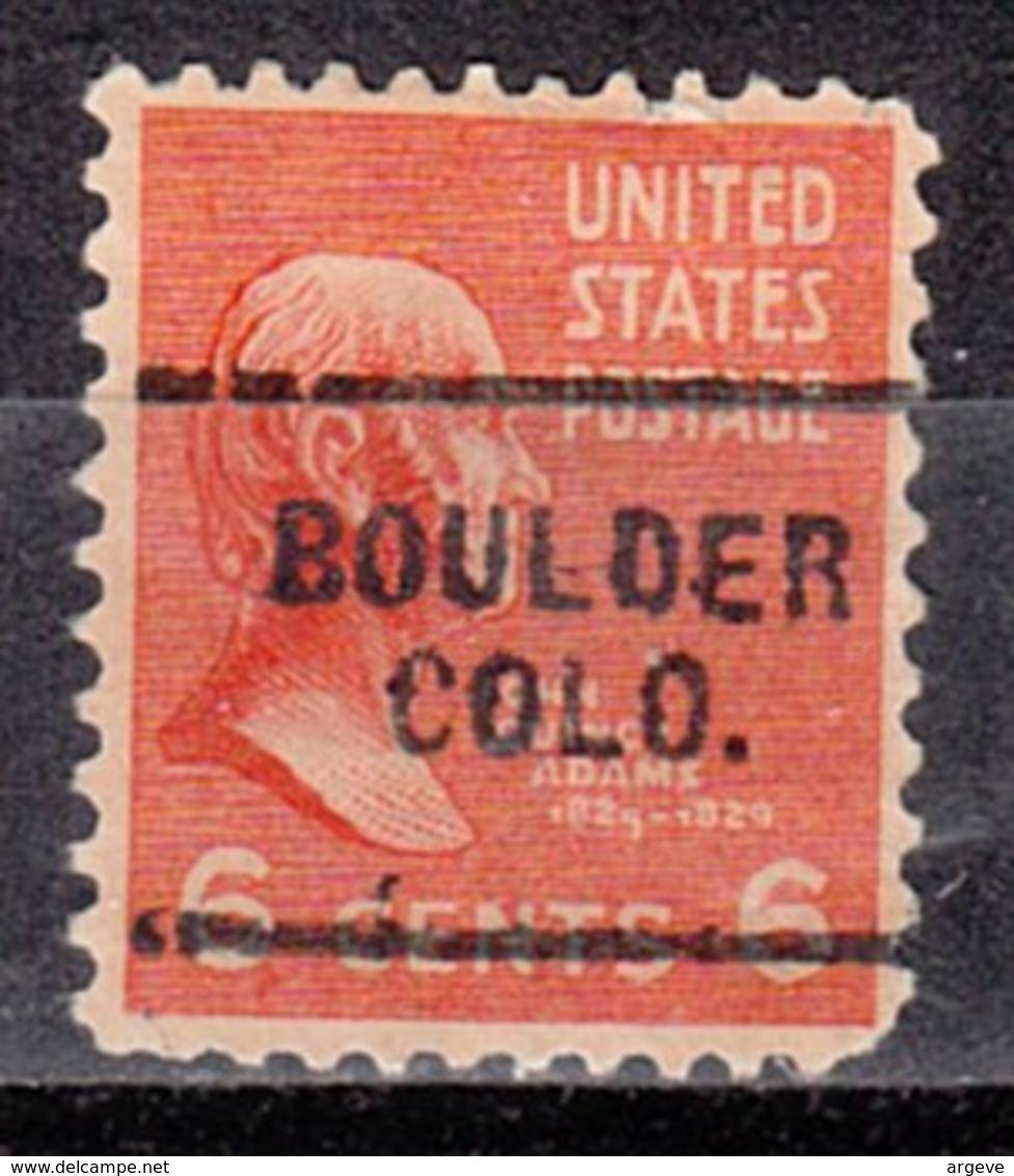 USA Precancel Vorausentwertung Preo, Locals Colorado, Boulder 703 - Vereinigte Staaten