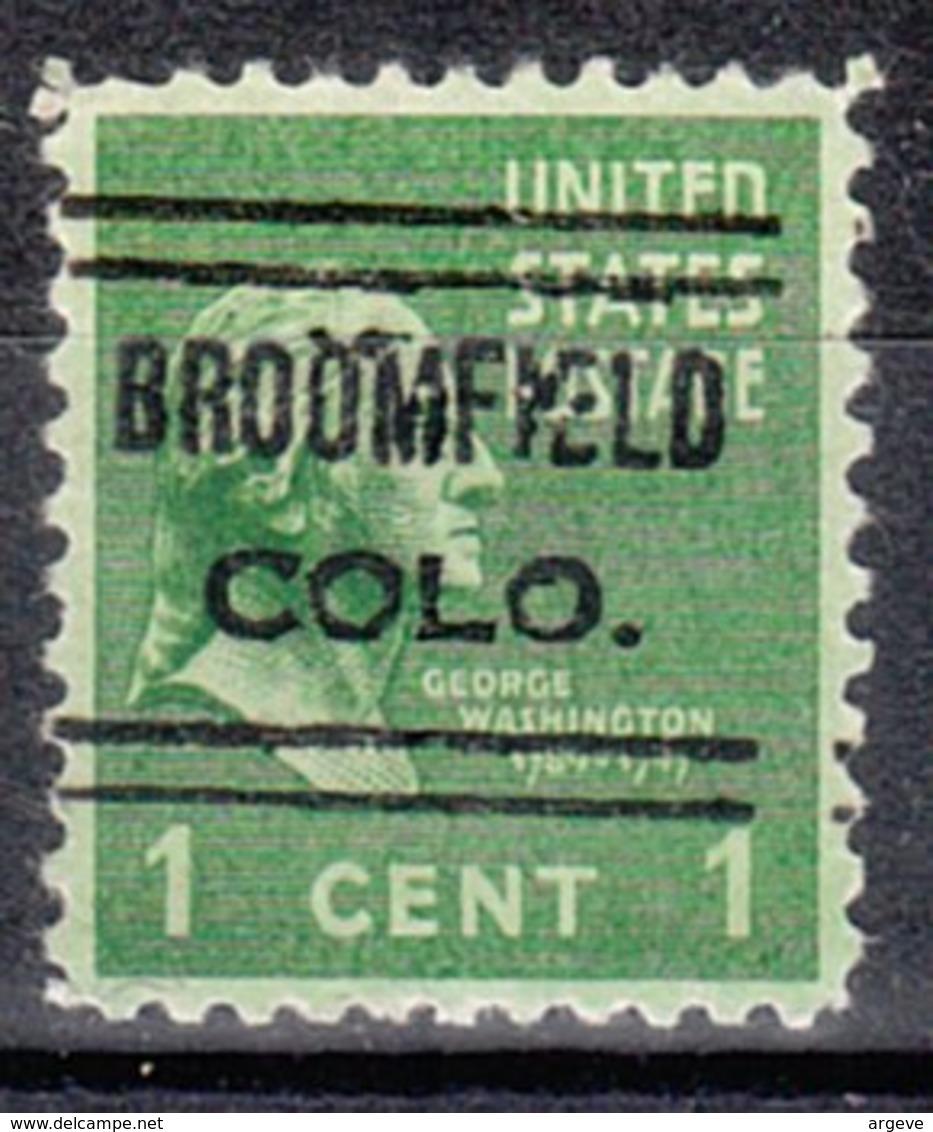 USA Precancel Vorausentwertung Preo, Locals Colorado, Broomfield 632 - Vereinigte Staaten