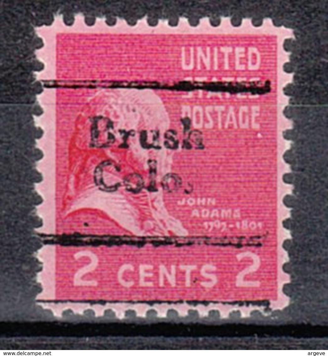 USA Precancel Vorausentwertung Preo, Locals Colorado, Brush 702 - Vereinigte Staaten