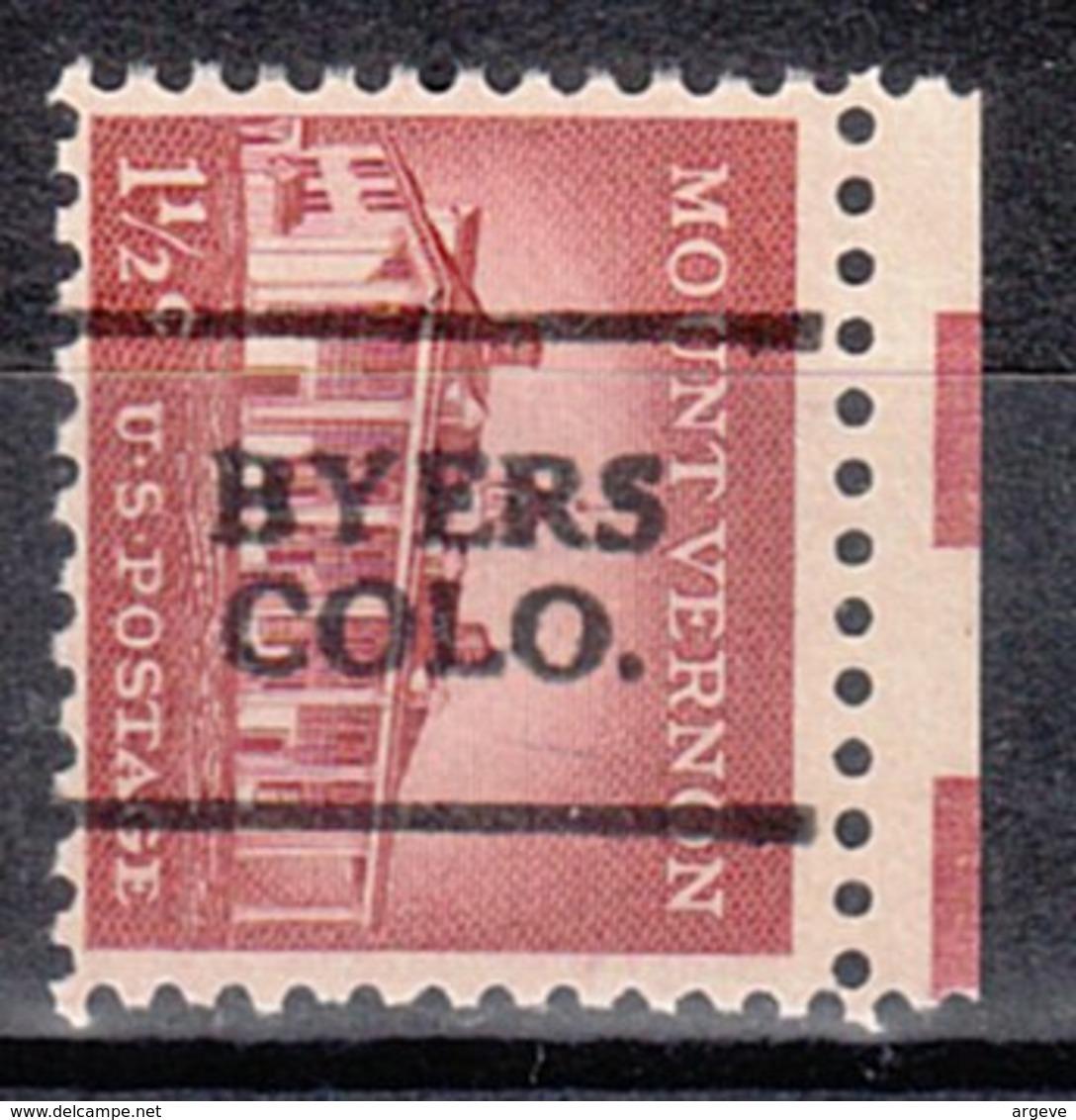 USA Precancel Vorausentwertung Preo, Locals Colorado, Byers 701 - Vereinigte Staaten