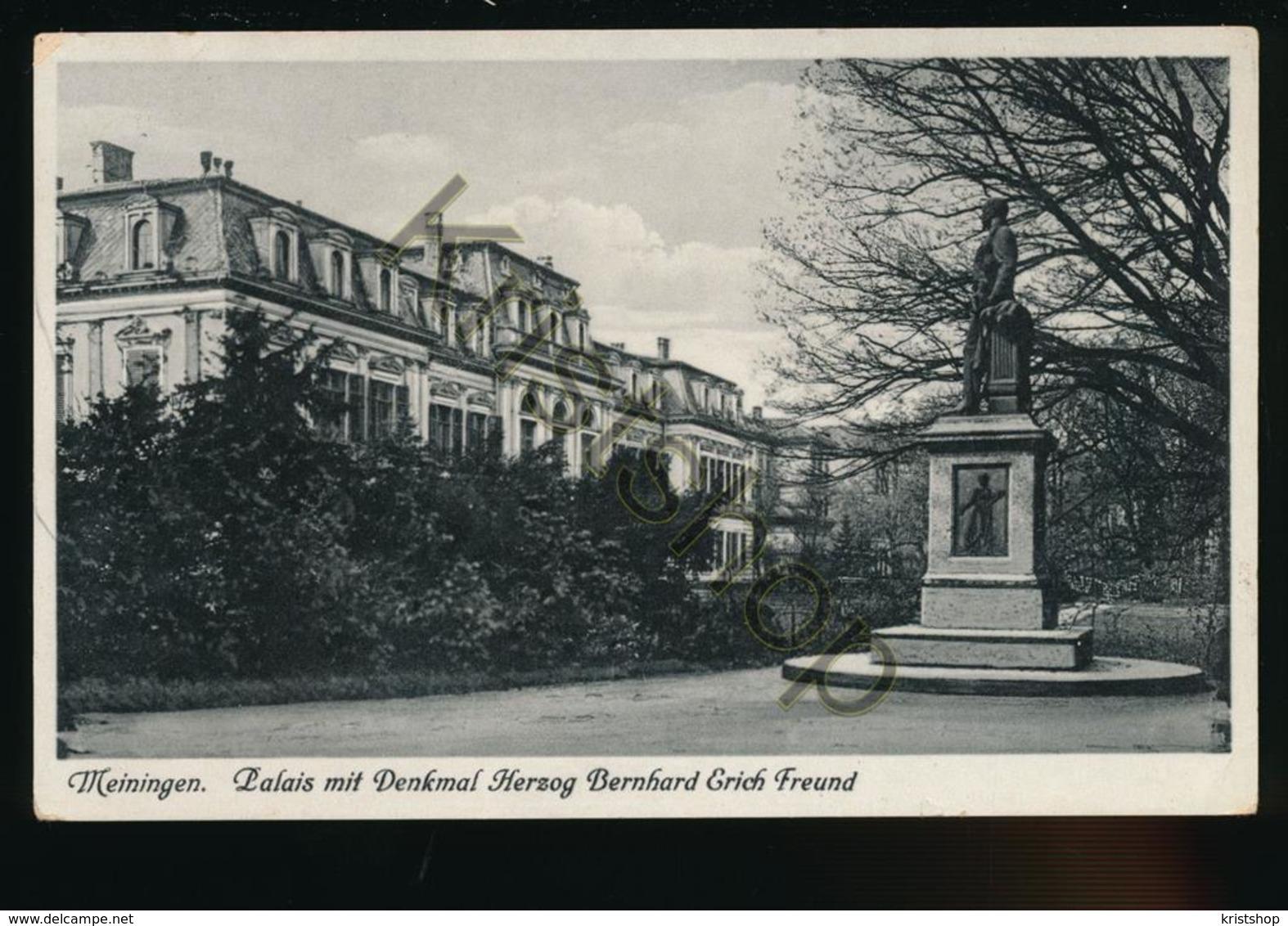 Meiningen - Palais Mit Denkmal Herzog Bernhard Erich Freund [AA35 5.263 - Germania