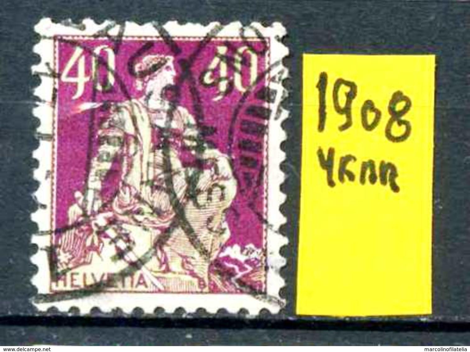 SVIZZERA - HELVETIA - Year 1908 - Traveled - Viaggiato - Vojagè - Gereist. - Svizzera