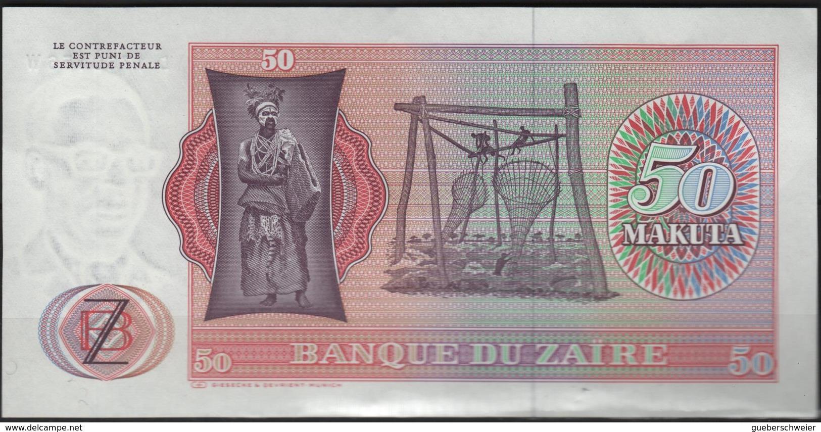 B 145 - ZAÏRE Billet De 50 Makuta  état Neuf 1er Choix - Zaïre