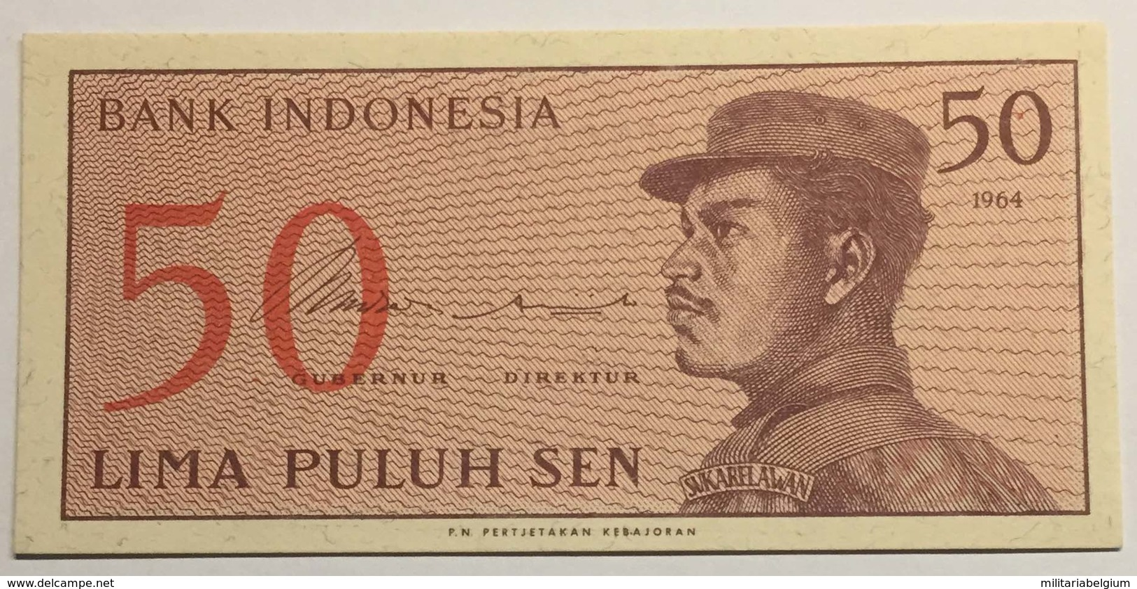 Bank Of Indonesia - Lima Puluh Sen - 1964 - Indonésie