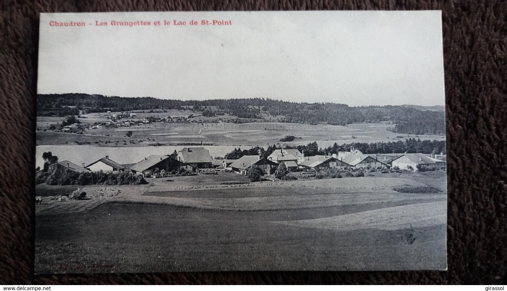 CPA CHAUDRON DOUBS LES GRANGETTES ET LE LAC DE SAINT POINT - France