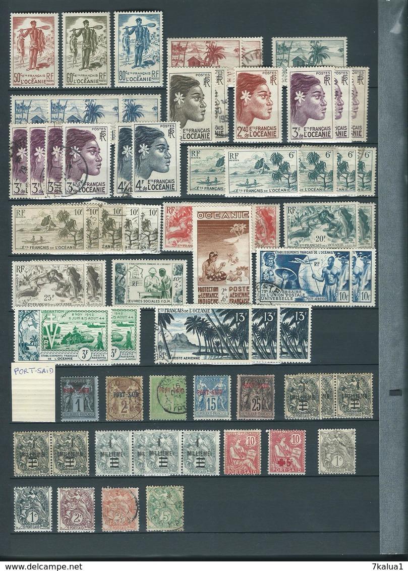 COLONIES FRANCAISES Avant Indépendance. Collection Dans Classeur 30 Pages, Nombreux Neufs**. Départ 1 €. - Timbres